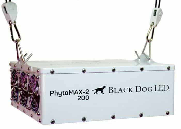 Black Dog LED PhytoMAX-2 200 LED Grow Lights | High Yield Full Spectrum Indoor Grow Light with BONUS Quick Start Guide
